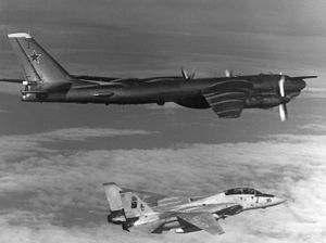 VFA-11 - VF-11 F-14A intercepting a Soviet Tu-95 in 1985