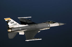 Springfield Air National Guard Base - F-16C of the 178th Fighter Wing, Springfield Air National Guard Base