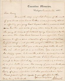 abraham lincolns letter to fanny mccullough