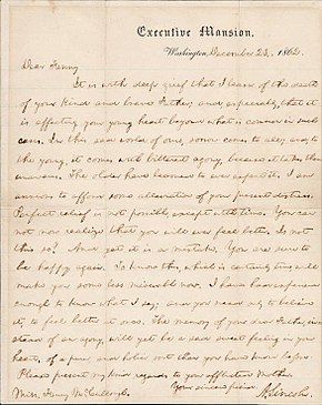abraham lincoln s letter to a letter to mccullough 767