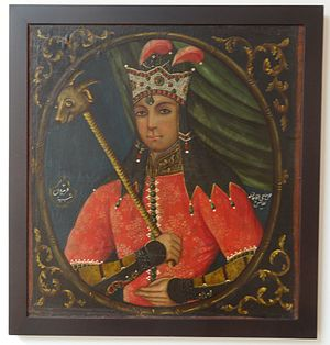 Fereydun - Freydun, painted by Haji Aqa Jan – early 19th century