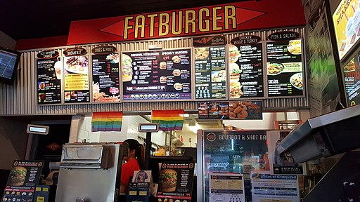 Fatburger, Davie Village, Vancouver, 2016