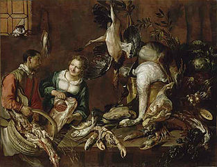 Woman Selling Poultry and Fish