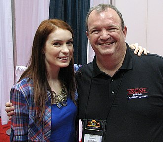 Tracy Hickman - Image: Felicia Day with Tracy Hickman