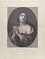 Female personification of Hope looking up with hands held together and left shoulder exposed, in an oval frame, after Reni MET DP841312.jpg