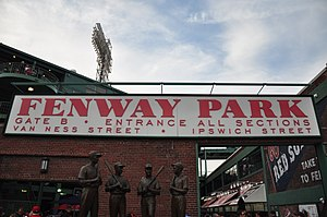 English: Gate B of the Fenway Park
