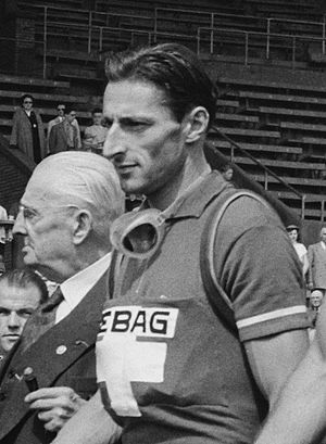 1950 Tour de France - Ferdinand Kübler (pictured in 1954) won three stages on his way to winning the general classification