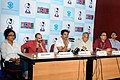 Film Actor, Sunil Shetty along with the Director Anand Mahadevan addressing the Press Conference on Indian Premier Cinema 'Red Alert' during the 40th International Film Festival (IFFI-2009), at Panaji, Goa.jpg