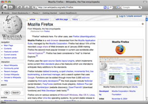 English: Firefox 3 mac os x