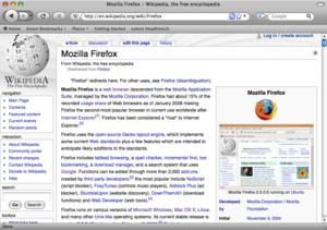 English: Firefox 3 mac os x
