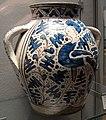 Firenze, bottega di giunta di Tugio (attr.), vaso a zaffera con uccello da testa femminile, 1430 ca.jpg