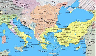 Battle of Southern Buh - The eastern Roman Empire and Bulgaria following the death of Basil I the Macedonian, circa AD 890.