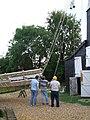 Fitting the sails, Impington Windmill - 3 - geograph.org.uk - 551363.jpg