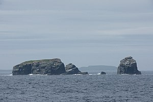 Fladda, Ofoora and Hyter, Ramna Stacks - geograph.org.uk - 1932715.jpg