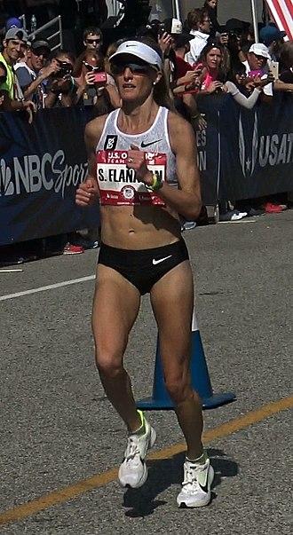 Shalane Flanagan - Shalane Flanagan finishing the 2016 U.S. Olympic Trials Marathon