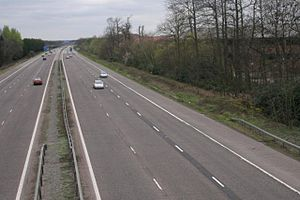 M3 motorway (Great Britain) - M3 motorway at Fleet