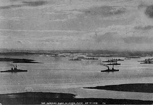 Scuttling of the German fleet in Scapa Flow - The fleet in Scapa Flow. November 1918