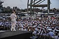 Flickr - Official U.S. Navy Imagery - Adm. Jonathan Greenert helps start the USO New York City Fleet Week block party..jpg