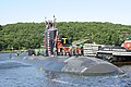 Flickr - Official U.S. Navy Imagery - USS Annapolis makes its way up the Thames River and home to Submarine Base New London..jpg
