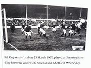 Arsenal contre mercredi, St Andrew's, 1907