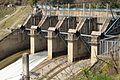 Floodgates - Pandoh Dam across River Beas - Chandigarh-Manali Highway - NH-21 - Mandi 2014-05-09 2151.JPG