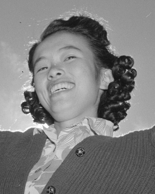 File Florence Kuwata Face Detail In 1943 Baton Practice Manzanar Adams Cropped Jpeg Wikimedia Commons
