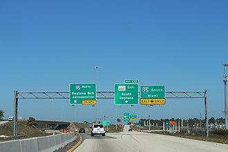 Interstate 4 - Eastern terminus of I-4 at I-95 in Daytona Beach