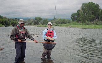 Arkansas River - Fly fishermen on the Arkansas River near Salida, Colorado