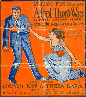 <i>A Fool There Was</i> (1915 film) 1915 film by Frank Powell