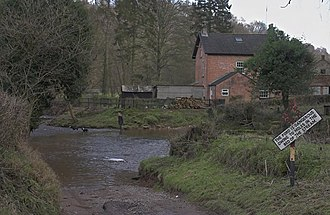 River Dove, North Yorkshire - Image: Ford on the River Dove geograph.org.uk 108787
