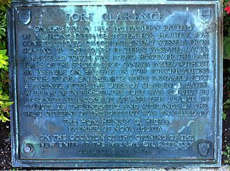 Military history of the Acadians - Eastern Battery Plaque, Dartmouth, Nova Scotia