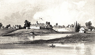 Fort Dearborn - 1856 drawing showing Fort Dearborn as it appeared in 1831