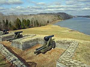 Fort Donelson - Image: Fort Donelson river battery (1)
