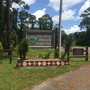 Fort Mose Historic State Park - The entrance of Fort Mose Historic State Park.