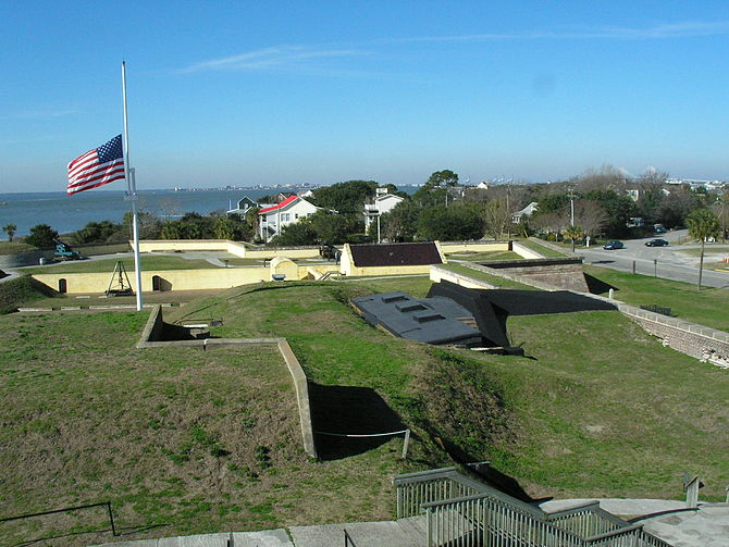The Fort Moultrie National Monument on Sulliva...