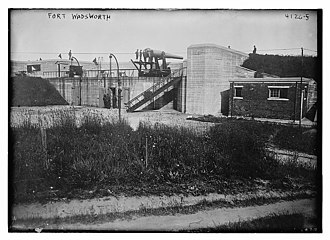 Fort Wadsworth - Unidentified battery at Fort Wadsworth circa 1917