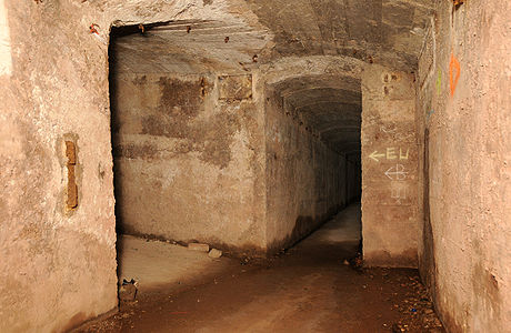 Underground, at the Fort de Roppe.