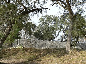 Colonial Dorchester State Historic Site - The walls of Fort Dorchester, from the Ashley River