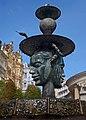 Fountain near the Market Colonnade. Karlovy Vary, Czech Republic.jpg