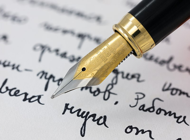 File:Fountain pen writing (literacy).jpg