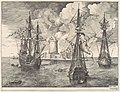 Four-master and Two Three-masters Anchored near a Fortified Island from The Sailing Vessels MET DP102238~1.jpg