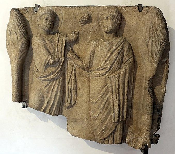 File:Frammento di sarcofago con incrdulità di s. tommaso, 390-510 dc ca.jpg
