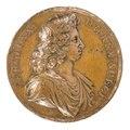 Framsida av medalj med Karl XI i profil - Skoklosters slott - 99257.tif