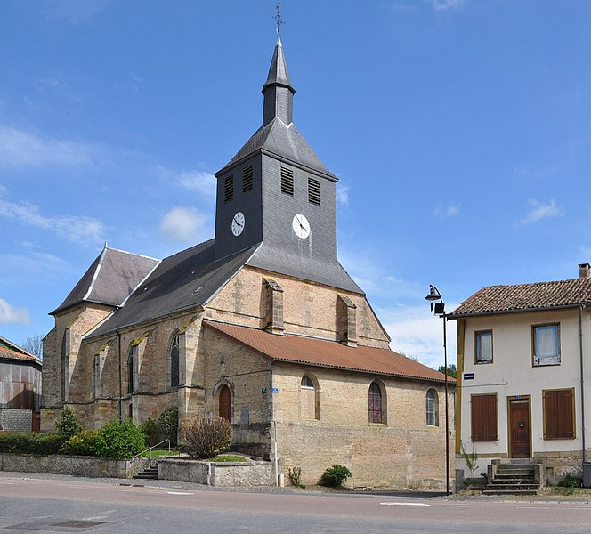 The Church of the Exaltation of the Holy Cross in Passavant-en-Argonne (Marne department, Champagne-Ardenne region, France).