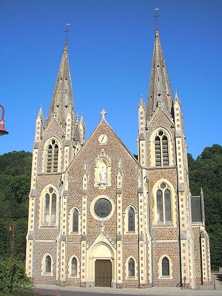 Troisgots (Normandie, France). Basilique de La Chapelle-sur-Vire.