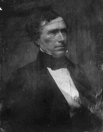 By the 1850s, Pierce had become a de facto leader of the New Hampshire Democratic Party. Frank-Pierce.jpg