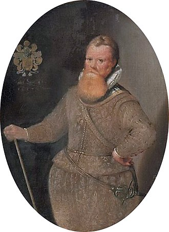 Frederick de Houtman - Portrait by David de Meyne in 1617