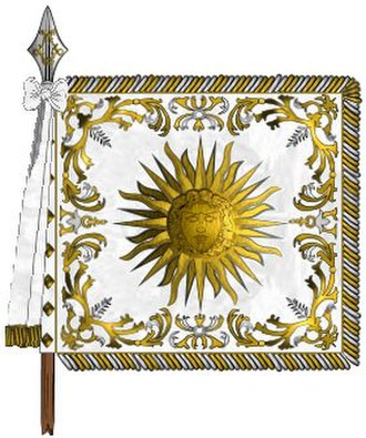 "Garde Écossaise - Standard of the ""Scottish company"", the 1st company of the royal Garde du Corps"