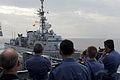 French Ship Jean de Vienne Approaching HMS Northumberland MOD 45154602.jpg