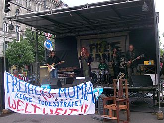 Mumia Abu-Jamal - Concert at a Free Mumia demonstration in Germany, 2007
